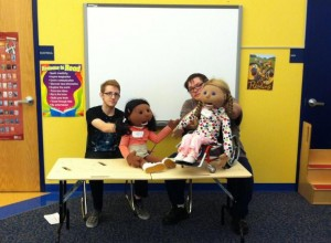 Life size puppet show